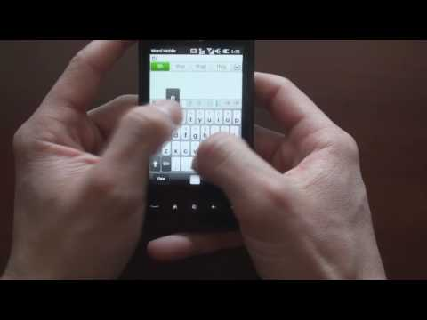HTC HD Mini Browser, Keyboard, & Third Party Apps