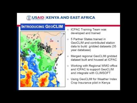 Adaptation Community Meeting - Scaling Up Climate Services: Lessons from East Africa