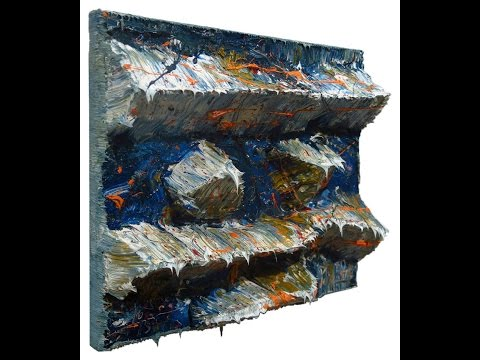 n179 oil painting acrylic modern 3D abstract artwork NYC gallery expressionist.
