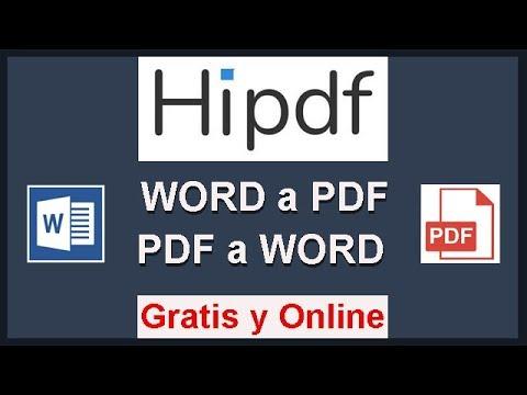 👉 TUTORIAL HIPDF. Convierte De WORD A PDF Y PDF A WORD ------ GRATIS Y ONLINE 💰 ------
