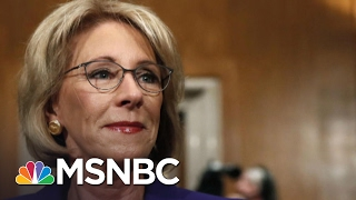 vice president mike pence breaks betsy devos senate tie   andrea mitchell   msnbc
