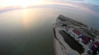 Полёт над пляжами Должанской(Полёт на закате. Ейский район Краснодарского края, станица Должанская. Коса долгая. Июнь 2015., 2015-07-01T16:15:16.000Z)
