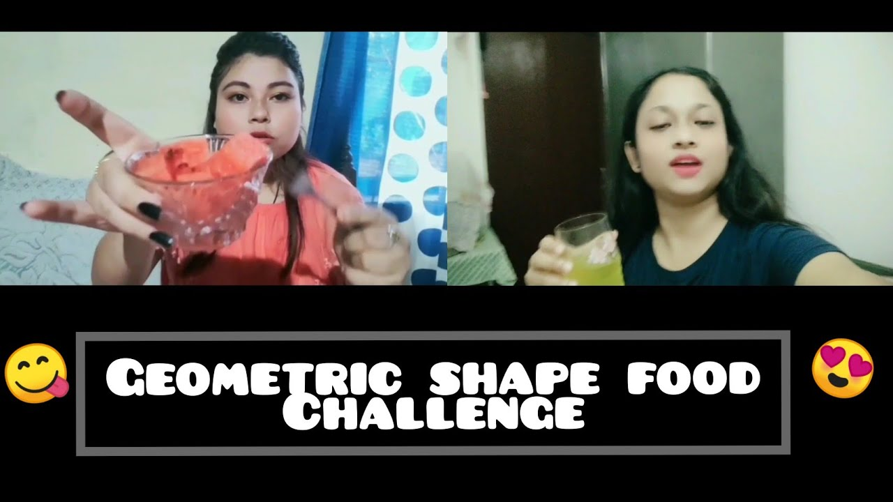 GEOMETRIC SHAPES FOOD CHALLENGE !!! *Circle and square shape* (Exciting)