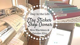 Day in the Life of an Etsy Shop Owner | Sara Marie Stickers |