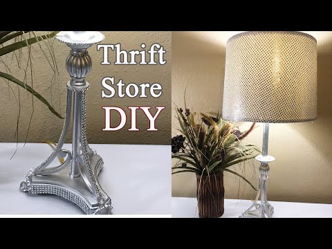 diy-thrift-store-lamp-makeover-|-upcycled-lampshade-|-decorating-ideas