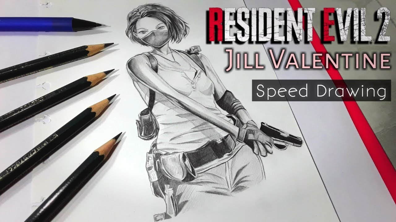 Drawing Fanart Jill Valentine From Resident Evil 3 Remake Youtube