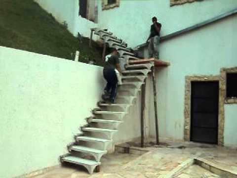 Escada L 120 M Com Patamaravi Youtube