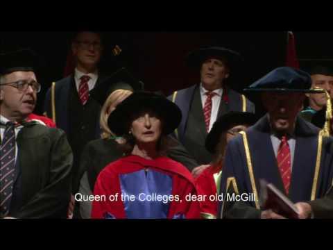 McGill University Fall Convocation PM Ceremony