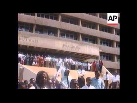 ZIMBABWE: RIOTS IN PROTEST AGAINST POLICE KILLING thumbnail
