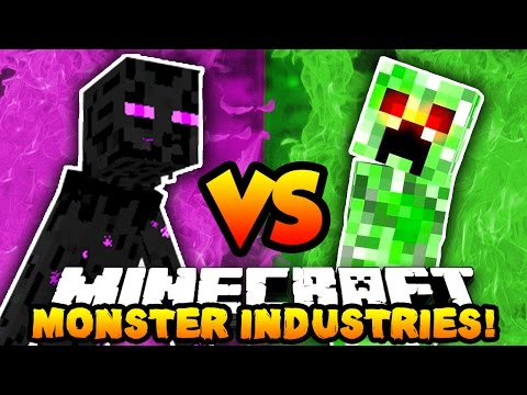 Minecraft 3v3 MONSTERS INDUSTRIES WAR! (Buy Upgrades, Kill Players & Win!) with The Pack!