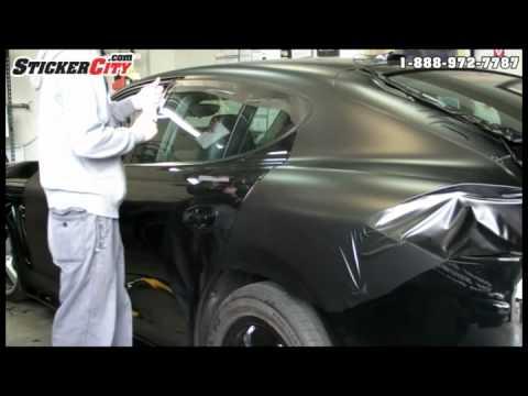 Porsche Panamera Matte Black Car Wrap Video Youtube