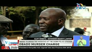 Migori Governor Okoth Obado to be charged with Sharon's murder