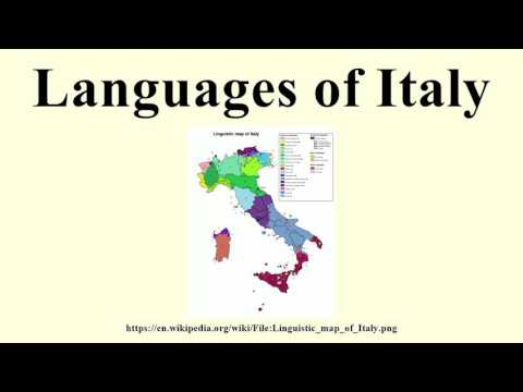 Languages of Italy
