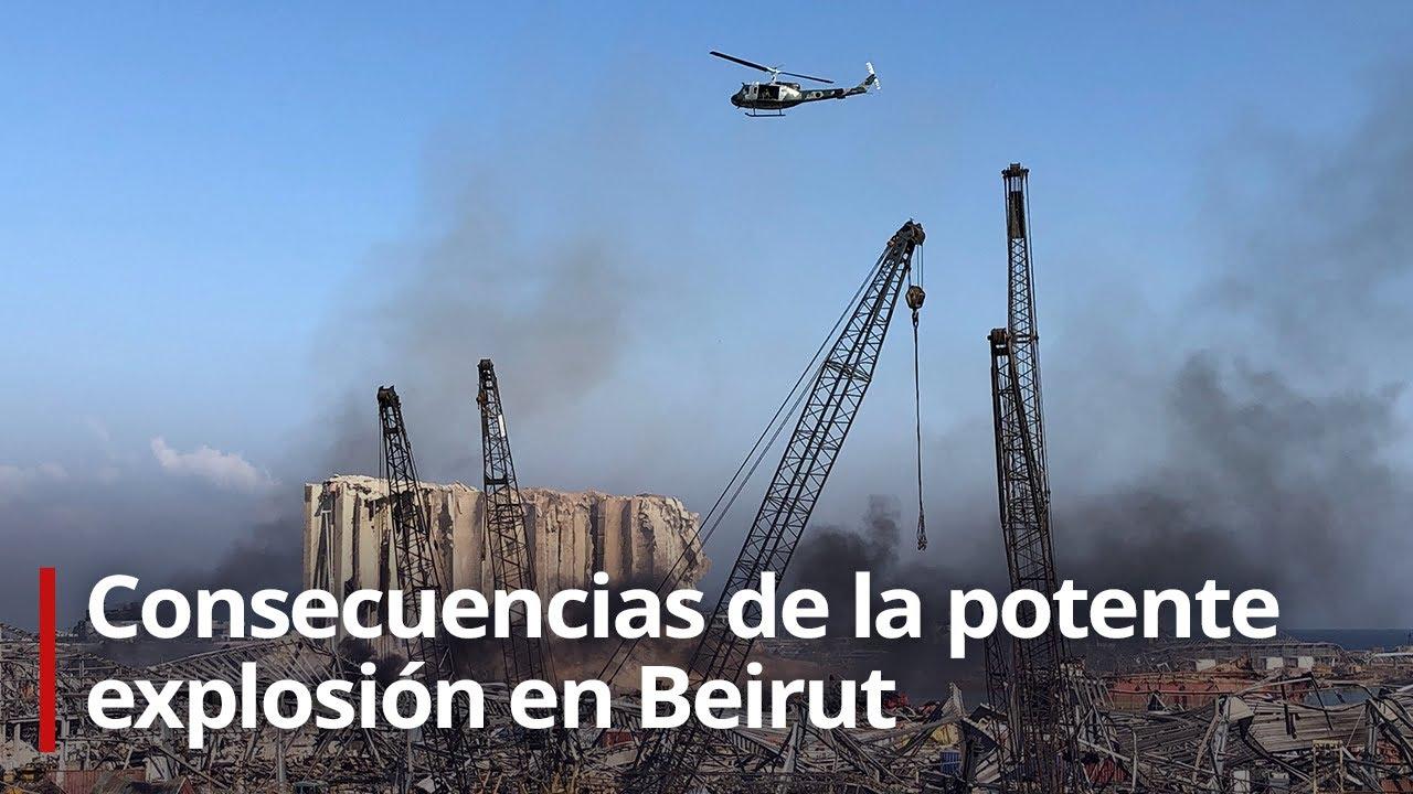 Imágenes de las zonas afectadas tras las devastadoras explosiones en Beirut