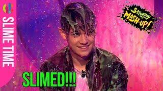 Harvey gets slimed!