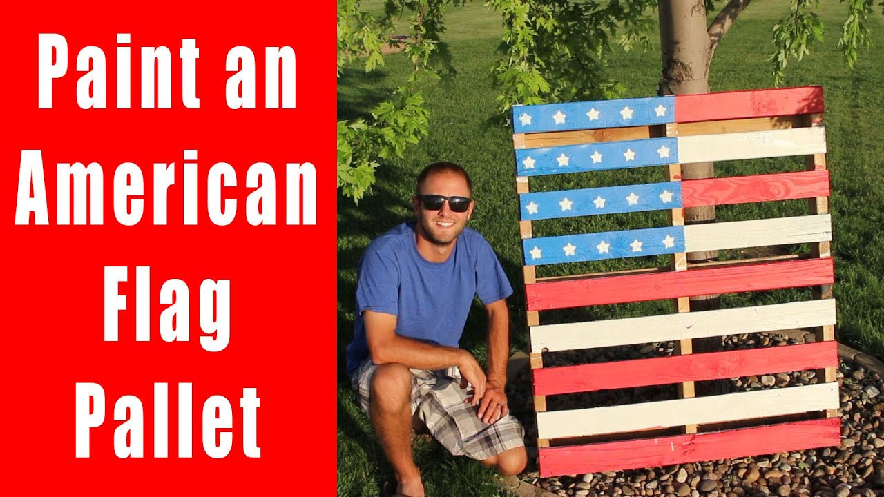 Here's how to make an American flag pallet like all your