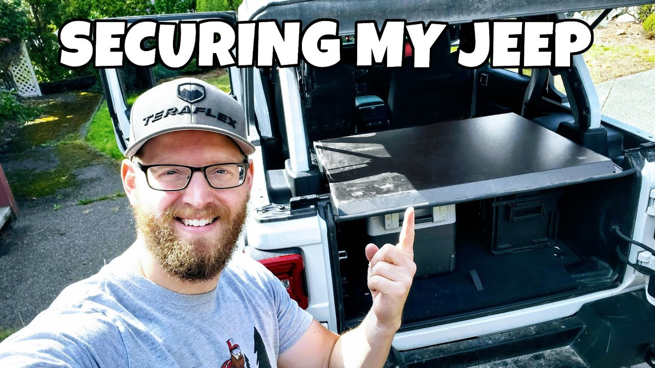 THIS IS HOW I SECURED MY JEEP WRANGLER JL CARGO AREA - Tuffy Security Enclosure Install & Review