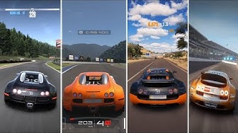Bugatti Veyron in 18 Different Games - Gameplay Comparison HD