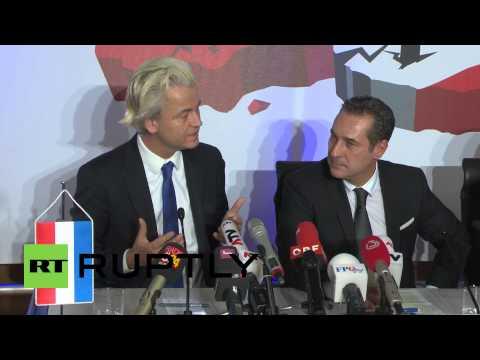 """Austria: Geert Wilders brands Marine Le Pen a """"hero"""""""