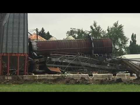 Storm Damage In Winger, MN