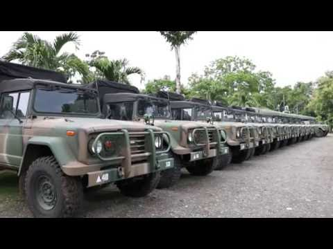 MGA BAGONG MILITARY TRUCKS AT AMBULANCE PARA SA CARAGA REGION BINASBASAN