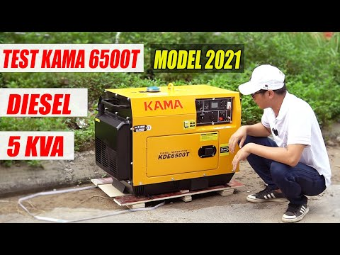 Test Máy Phát Điện KAMA 6500T Chạy Dầu Diesel 5Kw Thiết KẾ Mới Năm 2021 | Dáng Máy Nhật