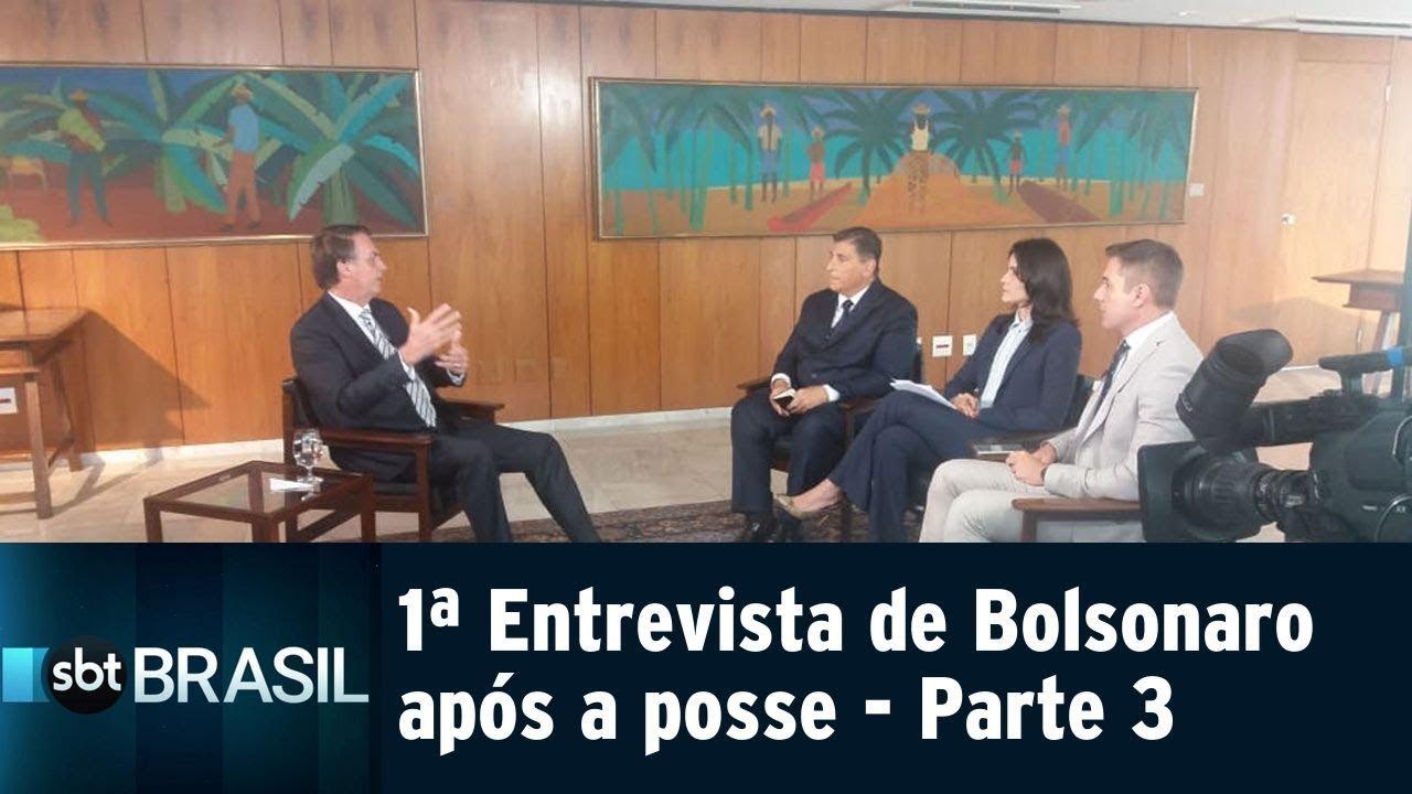 Jair Bolsonaro concede ao SBT a primeira entrevista após posse - Parte 3 | SBT Brasil (03/01/18)