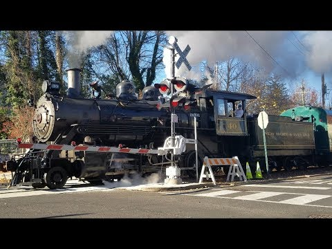 4K: New Hope and Ivyland Railroad Cabride on Steam Engine #40