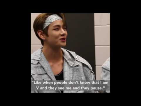 Taehyung being shy /BuzzFeed Interview [ENG]