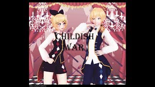 MMD 60FPS Kagamine Rin Kagamine Len Childish War RUS Cover