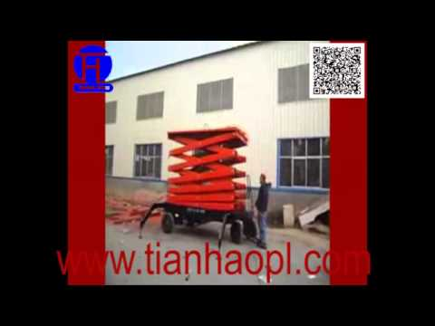 auto movable sissors lifting platform