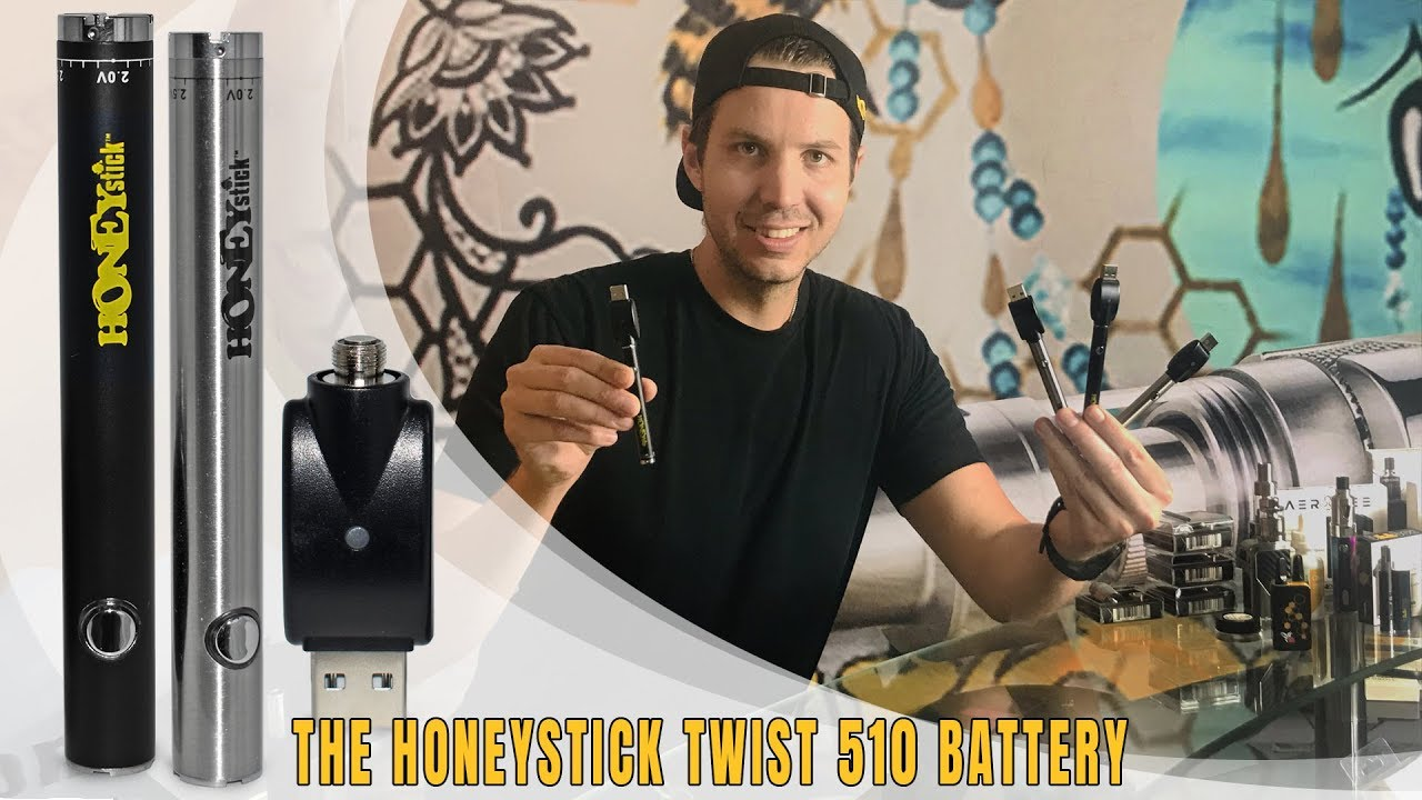 HoneyStick Twist 510 Vape Pen Battery | Variable Voltage 500 mAh Preheat  Function | How To