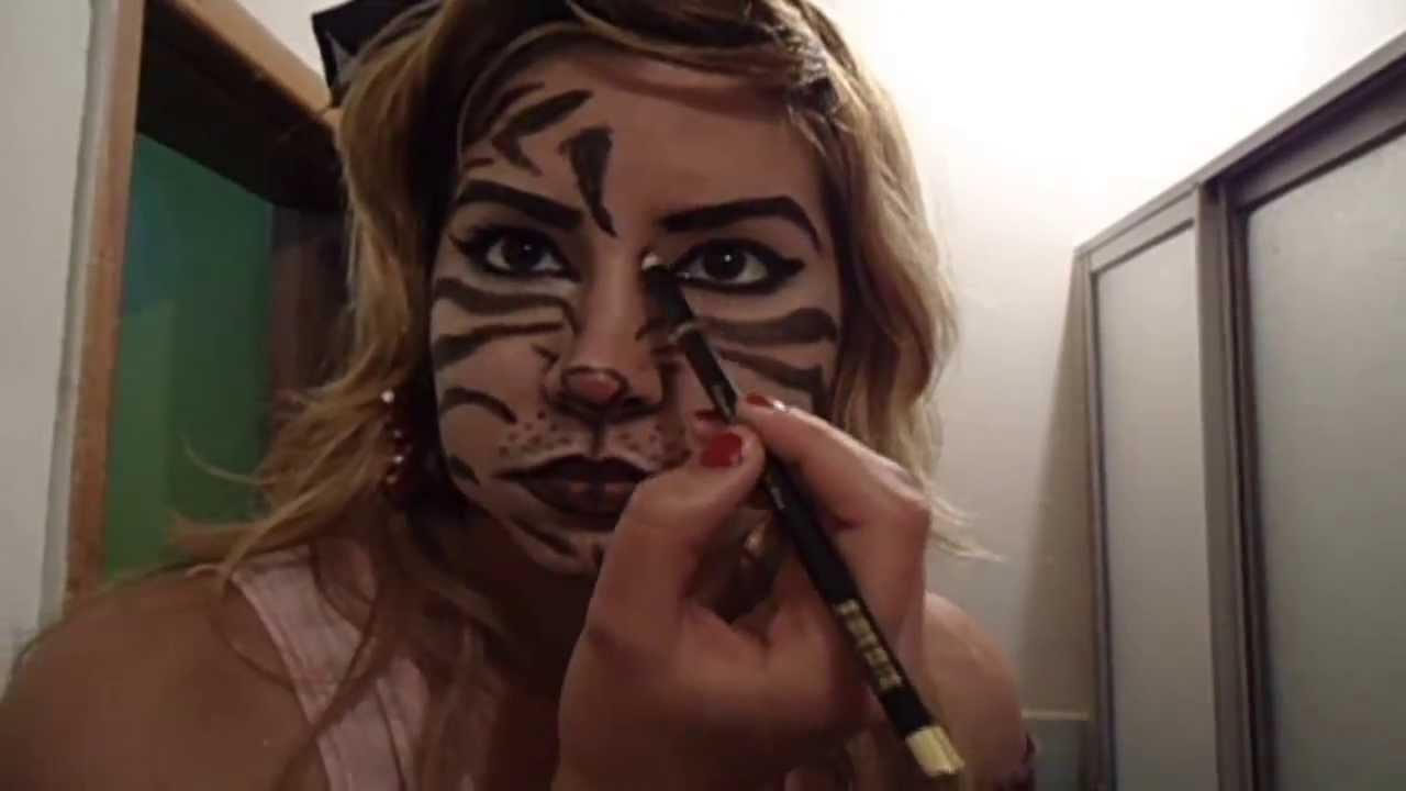 Maquillaje De Halloween - Tigresa Sexy Halloween-Makeup