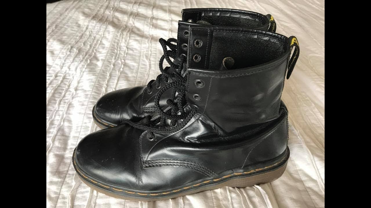 Dr Martens 1460  Vintage Made In Uk  20 Year Old Boots -2739