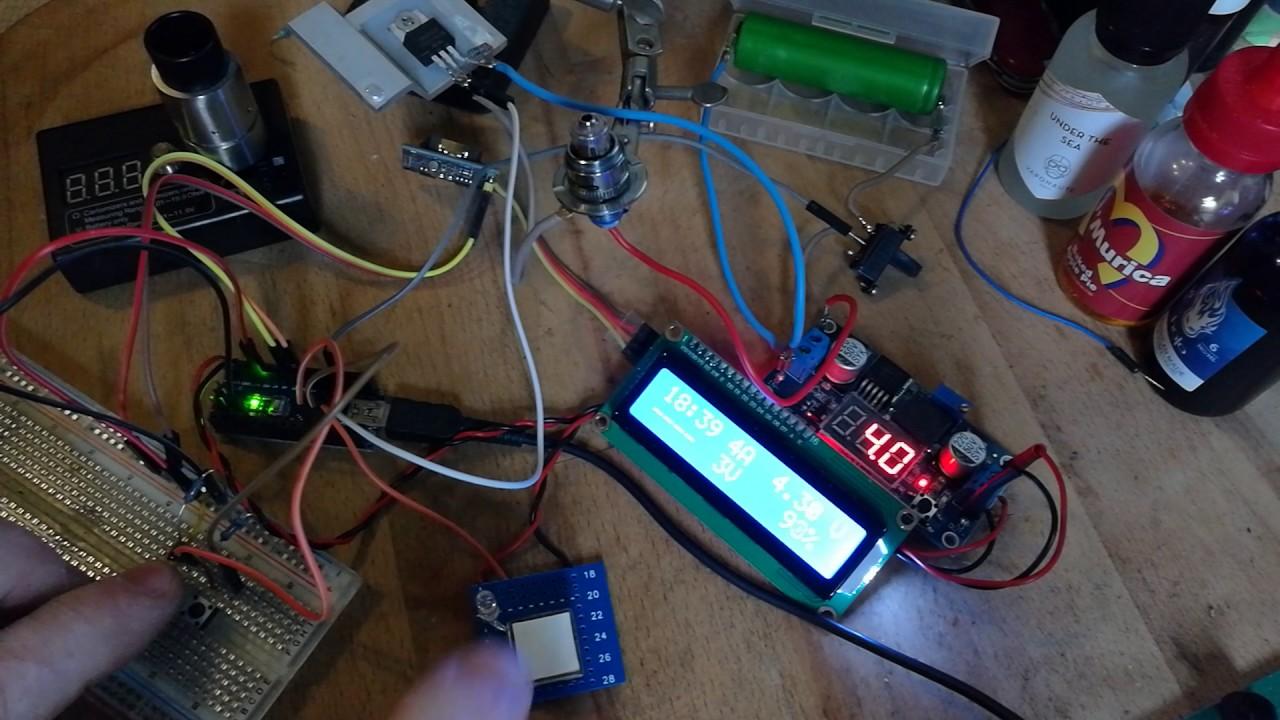 Arduino Nano Dampfer Vape Mod Pwm I2c Clock Lcd Youtube Box Wiring Diagram