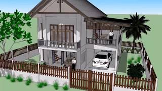 บ้านเพลินภัทรา  ( No. 032 )  Sketchup by :  i.  pakdee