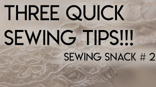 Sewing Snack # 2 Smooth Boning, Clean Iron, & Undisturbed Lace