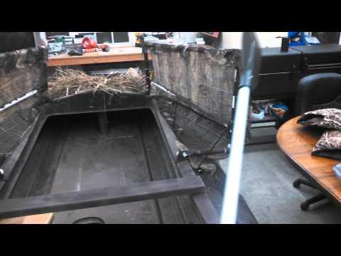Sneak boat blind doors
