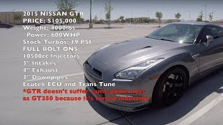 Shelby GT350 vs. Nissan GTR! Drag and Rolling Race