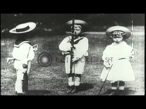 Otto Von Bismarck, Prince of Wales, Tsar Nicholas II and Kaiser William II at the...HD Stock Footage