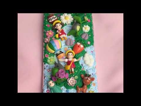 Kawaii Mei Totoro Handmade Phone Case | Cute Creamy Transparent Epoxy | Custom Personalised For Sams
