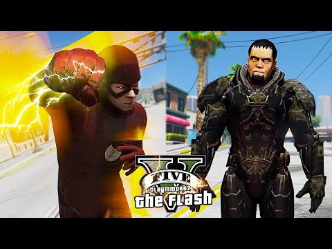 GTA 5 PC - The Flash VS General Zod ! And Saving People ! (The Ultimate Flash Mod Gameplay)