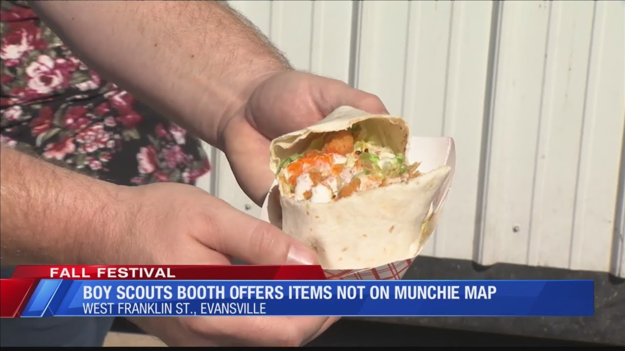 Boy Scouts booth offering new menu items at Fall Festival