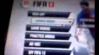 Fifa13 menus psp