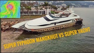 Super Typhoon Mangkhut VS Super Yacht