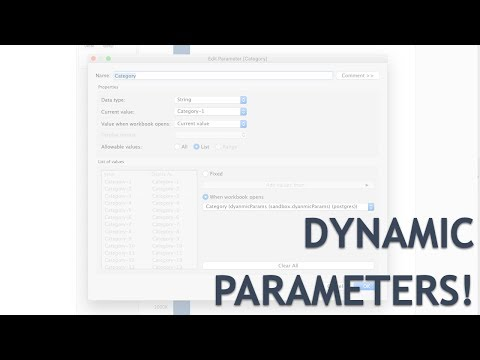 First Look at Dynamic Parameters in Tableau Desktop