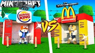 BAZA McDonald's VS BAZA Burger King - MINECRAFT | Vito vs Bella