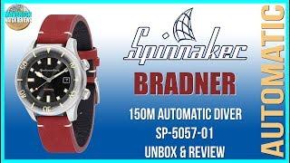 Compression Diver! | Spinnaker Bradner 150m Automatic Diver SP-5057-01 Unbox & Review