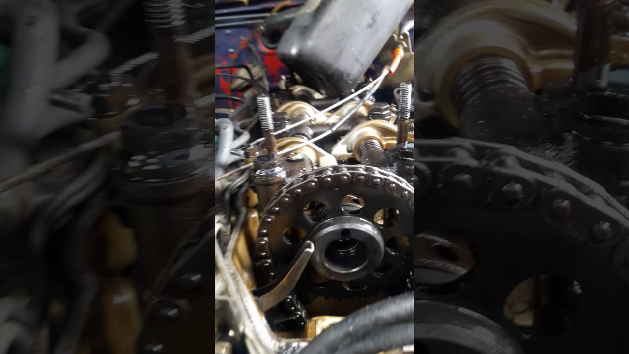 Timing chain marks,on a 22r Toyota engine 1985 YouTube