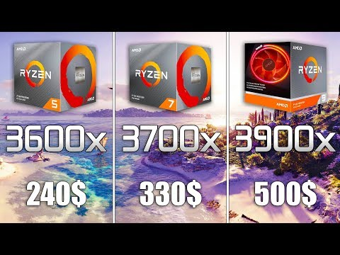 Ryzen 5 3600x vs Ryzen 7 3700x vs Ryzen 9 3900x